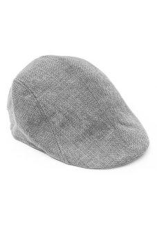 Fancyqube Men Newsboy Cap Hat Gatsby Flat Ivy Golf Cabbie Baker Beret Artist Grey