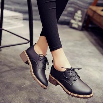 Giày nữ Oxford Rozalo RWG7118B-Đen