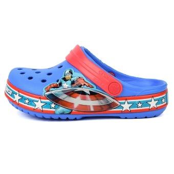 Giày lười bé trai Crocs Crocband Captain America Clog Varsity Blue Red 202678-4S0 (Xanh)