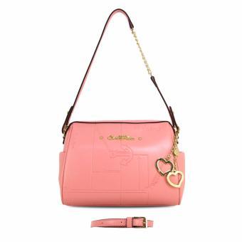 Túi đeo form trống CARLO RINO 0303185-001-24 (màu hồng)