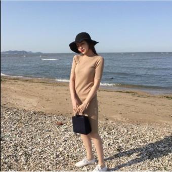 Đầm thun ôm tôn dáng siêu đẹp - D1111 ( màu kem )