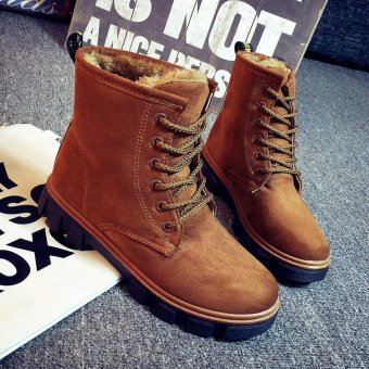 2016 New Fashion Womens Ankle Boots Fur Winter Warm Thicken Shoes Snow Boots - intl