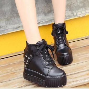Giày Bánh Mì Nữ Cá Tính Bm030d (đen)