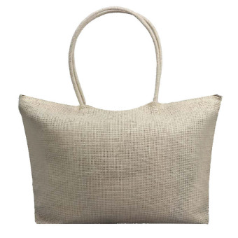 Simple Candy Color Large Straw Beach Bags Women Casual Shoulder Bag Khaki