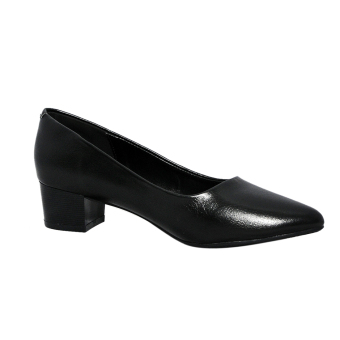 Giày nữ cao gót 4cm da bò thật ESW28 Cung cấp bởi ELMI (Đen)