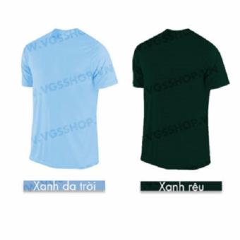 Bộ 2 áo thun LAKA A1719 (Xanh Rêu + Xanh Da Trời)
