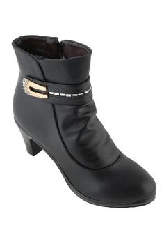 Giày Boots Nữ Cổ Thấp Gót Cao Vừa SoYoung WM BOOT 018 B