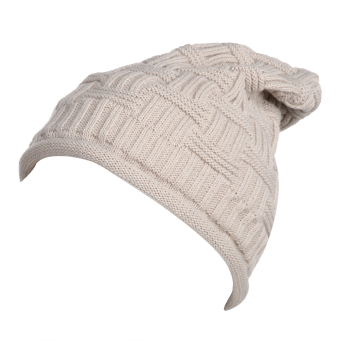 Top New WomenWinter Hat Beanie Crochset Hat Knit War Cap (Beige)
