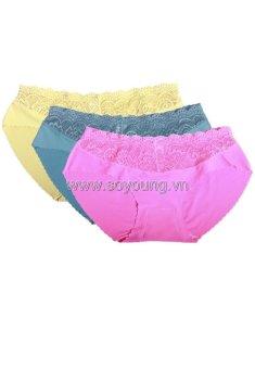 Bộ 3 quần lót ren nữ SoYoung 3DL NU 022 (Nhiều màu)
