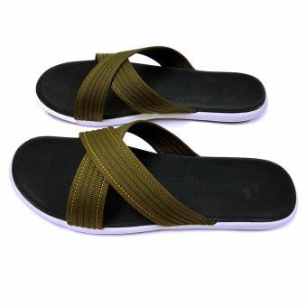 Sandals Quai Chéo Nam Ensado DE21 (Xanh Bộ Đội)