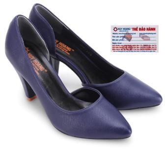 HL7089 - Giày nữ Huy Hoàng cao cấp xẻ hông đế 7cm màu xanh đậm