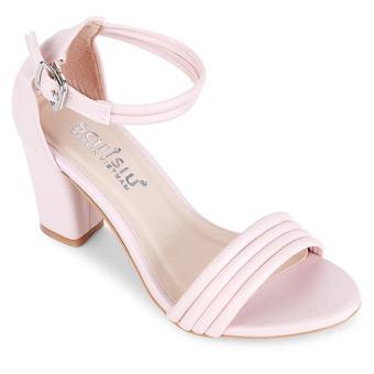 Giày cao gót 4 dây Sarisiu SRS850 (Hồng)
