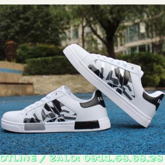 Giày thể thao nam FASHION ZILONG hàn quốc trắng phối đen GN002