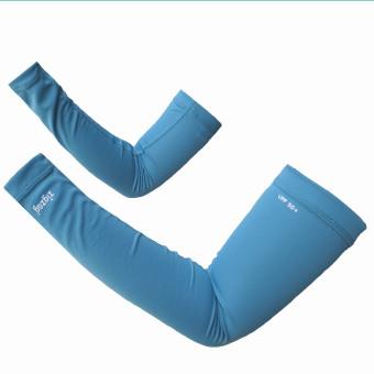 zigzag GLV00204- Găng tay ống chống nắng UPF50+ (Xanh nhạt)