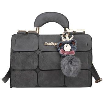 New Spring Women PU Leather Suture Boston Bag Lady Shoulder Bag Handbag Tot - intl