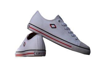 Giày sneaker nữ cổ thấp CODAD CANVAS KARO (Trắng)