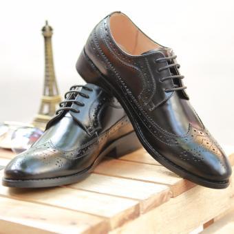 Giày da buộc dây nam Derby Kazin màu đen - KZD0039