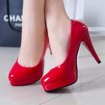 Giày cao gót bít chân thời thượng 160_màu đỏ