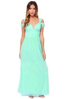 Maxi Chiffon Dress (Green) - Intl