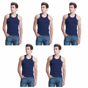 Bộ 5 áo lót nam co giãn ROZALO RMAL6022XD (Xanh đậm)