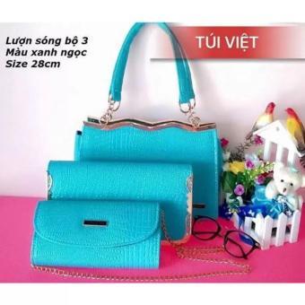 Bộ 3 túi xách nữ thời trang - Nino Shop ( Xanh Ngọc)