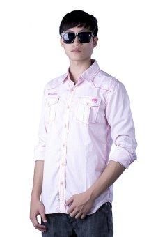 Áo sơ mi nam Police ZS011- 2 (Màu hồng nhạt)