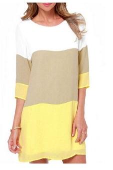 Vococal Casual Chiffon Shift Half Sleeve Dress