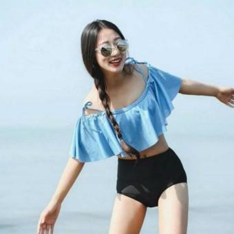 Bộ bikini 2 mảnh phối vạt bèo (Size M)