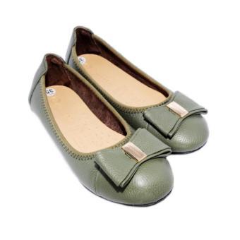Giày Búp Bê nữ da bò Minh Tâm MT703GN