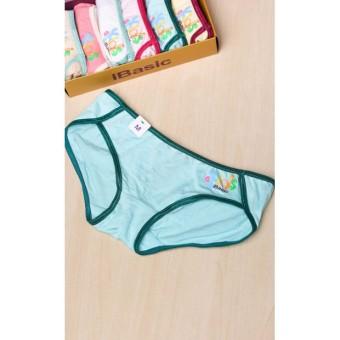 Quần lót bé gái cotton bikini hộp 6 cái