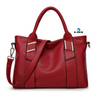 Túi nữ đeo chéo da thật cao cấp HQ 8TU50 7 (Đỏ)
