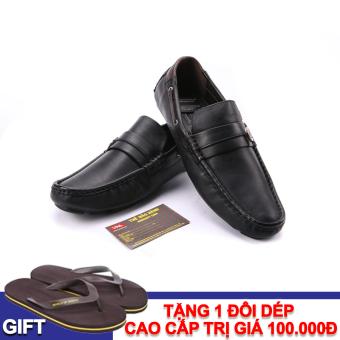 Giày lười nam da thật Da Giày Việt Nam VNLS1AZ11-2D-1 + Tặng 1 đôi dép