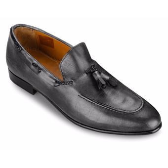 Giày Da Pierre Cardin Black Tassel Loafer - PCMFWLA016