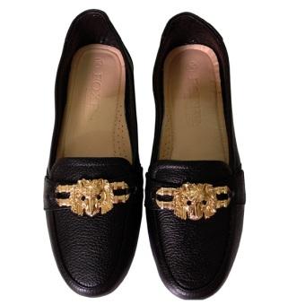 Giày nữ da bò chính hãng cung cấp bởi Foxer GD221025 (Đen)