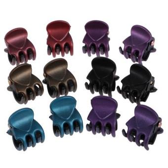 BolehDeals 12 Pieces/ Lot Lady Girl Mini Hair Resin Claws Clamps Clips Hair Grips 2 - intl