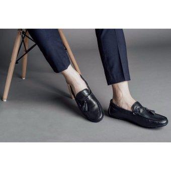 Giày lười nam hàng hiệu Laforce da trơn dây tết thắt chuông GNLA6567-D