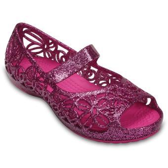 Xăng đan nữ Crocs Isabella Glitter Flat PS WldOrcd 202602-5K8 (Hồng)