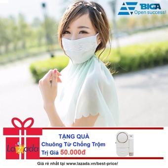 Khẩu trang trùm cổ tránh nắng 95% tia UV + Tặng Chuông Từ Chống Trộm