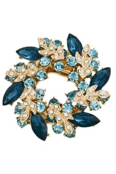 Bluelans Flower Bouquet Brooch (Lake Blue) (Intl)