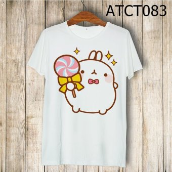 Áo thun molang cầm kẹo mút - MITADI - ATCT083 (Trắng)