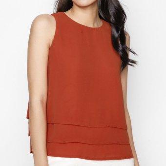 Áo kiểu nữ nhiều tầng màu Xanh MINT Basic (Đỏ)