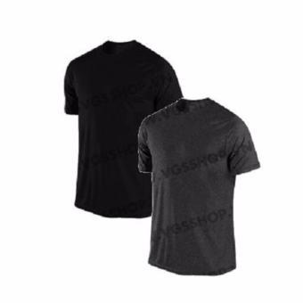 Bộ 2 áo thun nam LaKa LKA1015 (màu đen, xám lông chuột)