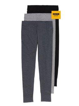 Bộ 3 quần legging nữ Navi(đen -xám -bạc)