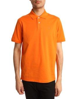 Áo thun nam body polo cổ bẻ Navi ( màu cam )
