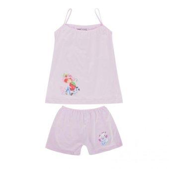 Bộ đồ mặc ở nhà Cotton 100% màu hồng nhãn hiệu lotbe