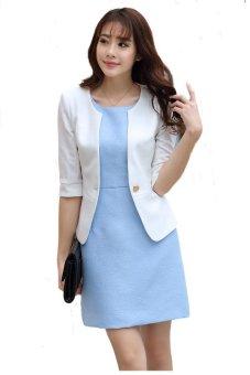 Áo khoác vest AKVN84 Có lót thân (trắng )