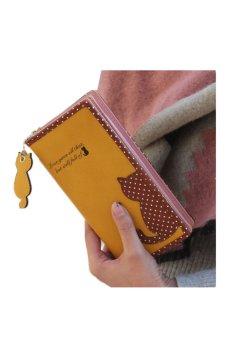 Cat Purse Long Wallet (Yellow)