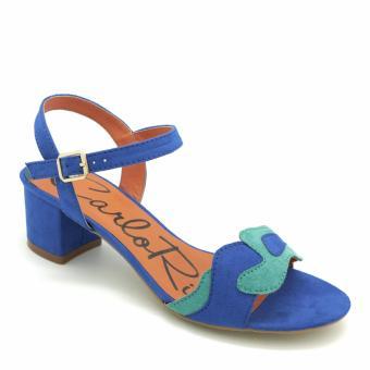 Giày Sandal cao gót Carlo Rino 333040-120-03 (xanh dương)