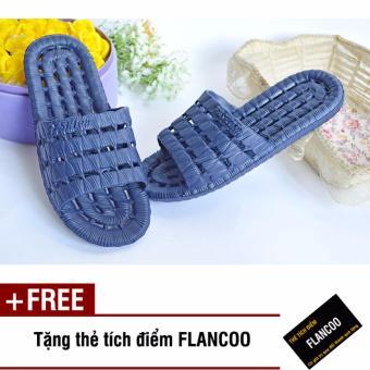 Dép chống trơn đi trong nhà Size 42-43 Flancoo 28372 (Xanh đen) + Tặng kèm thẻ tích điểm Flancoo