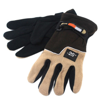 Men Winter Warm Fleece Thermal Motorcycle Ski Snow Snowboard Gloves Brown (Intl)